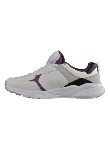 Slazenger Ikarus Beyaz-Mor Unisex Spor Ayakkabı Beyaz